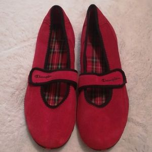 Red Mary Jane style shoes, Size 9